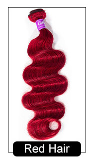 red body wave hair