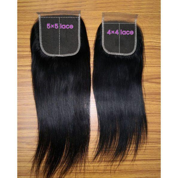 Straight Hair 5×5 Lace Closure