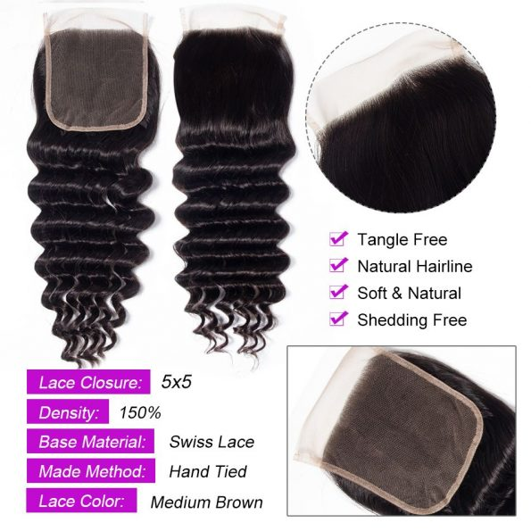 Loose Deep 5×5 Lace Closure