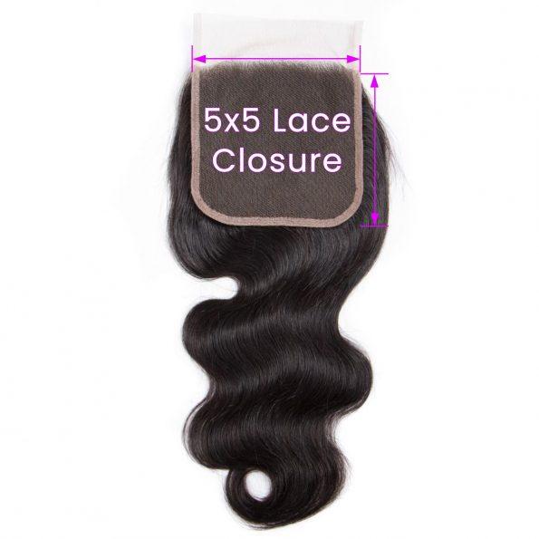 Body Wave 5×5 Lace Closure