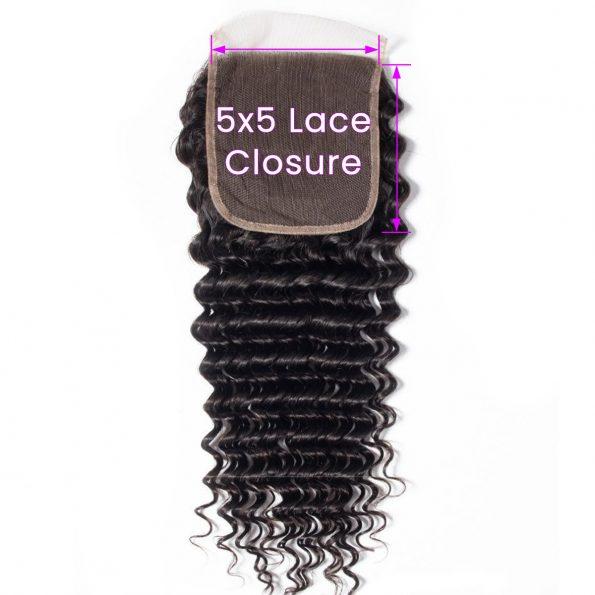 Deep Wave 5x5 Lace Closure