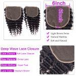 Deep wave 6×6 Lace Closure