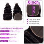 Loose Deep wave 6×6 Lace Closure