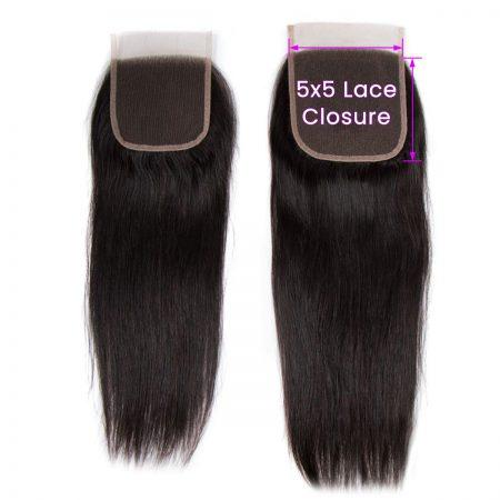 Straight Hair 5x5 Lace Closure
