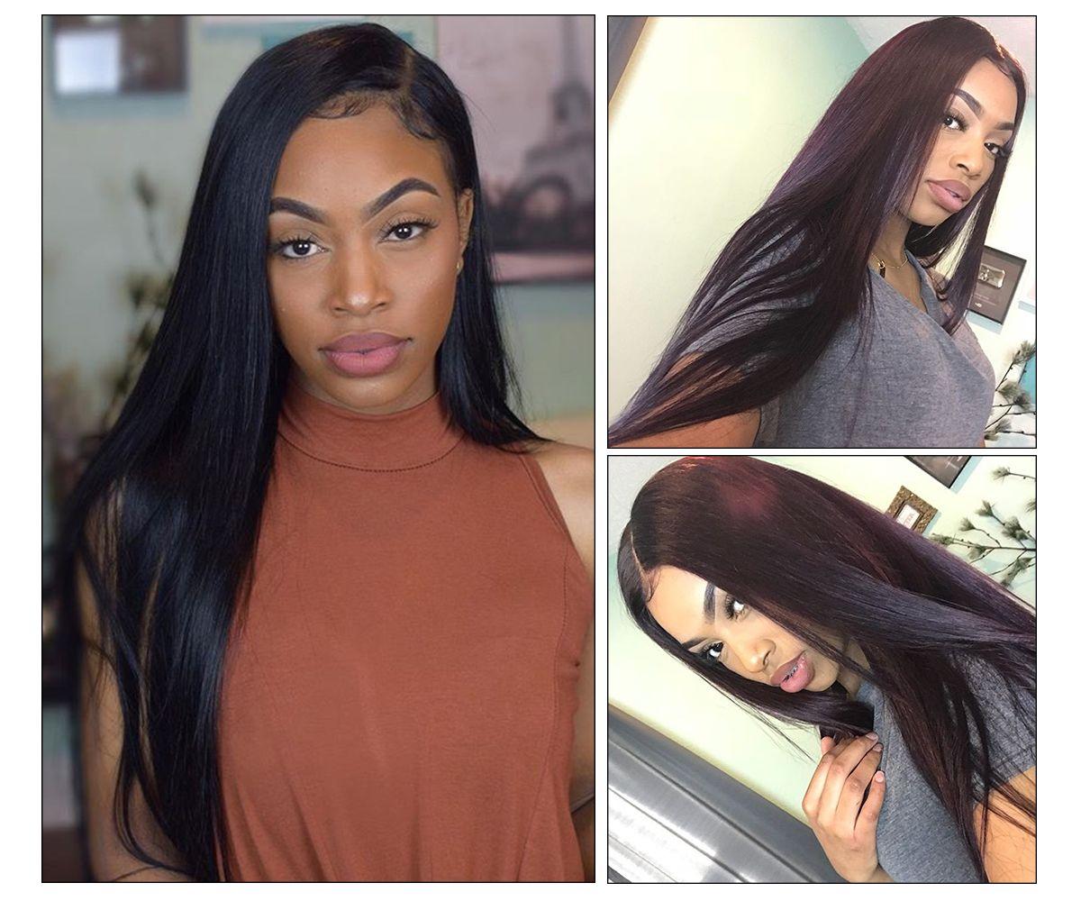 Straight Hair 3 Bundles With Closure