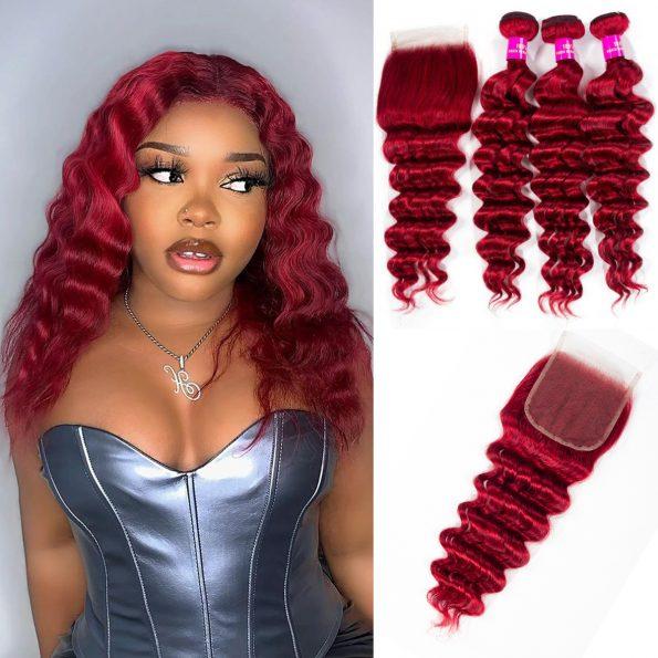 deep wave red bundles