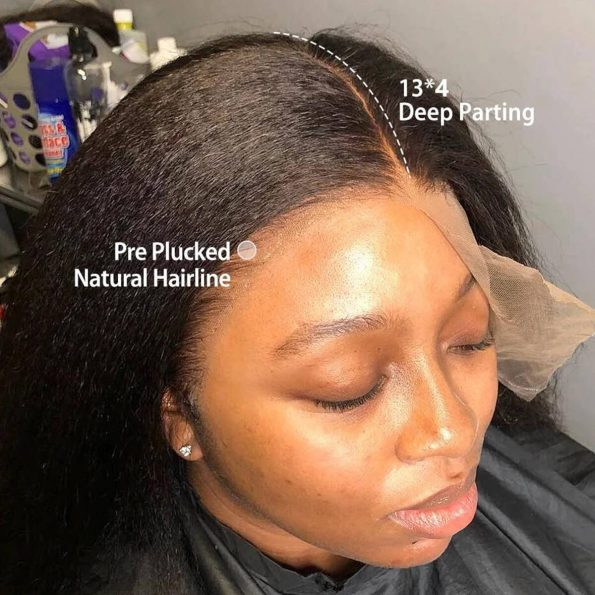 13×4 kinky straight lace front wig