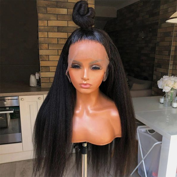13×6 kinky straight lace front wig 2