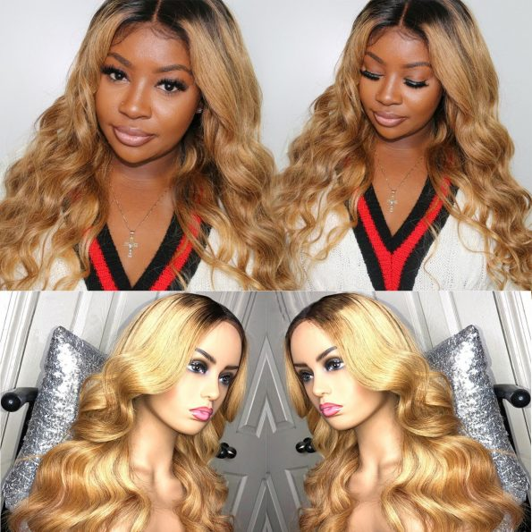 1B27 Body Wave lace wig