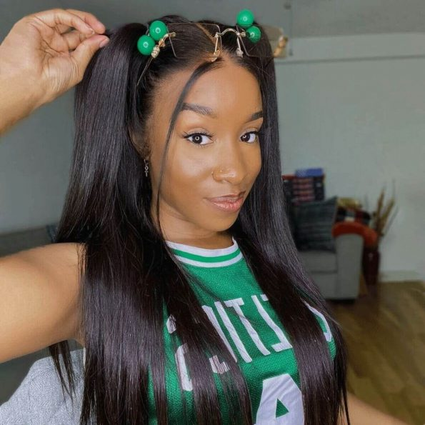 360 straight lace frontal wig