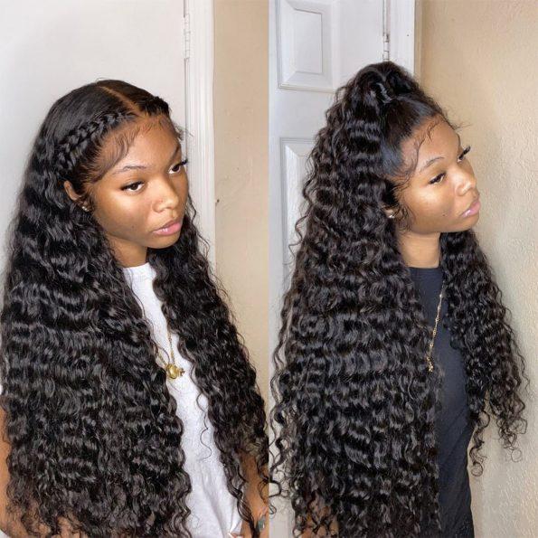 360 water wave wig