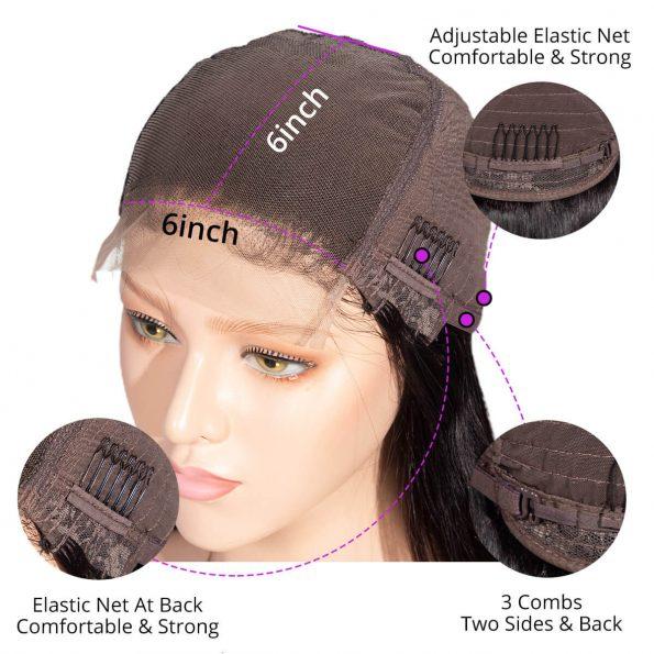 6×6 closure wig detailed
