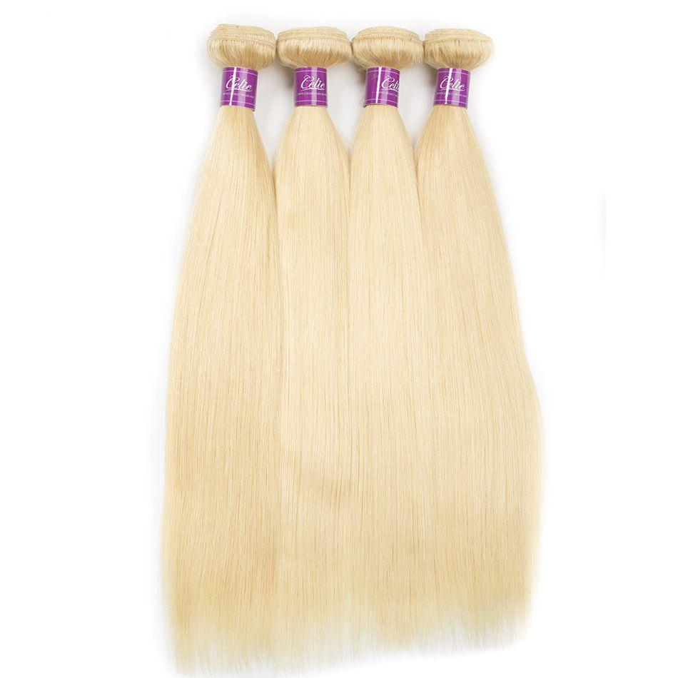 Blonde 613 Color Straight hair bundles