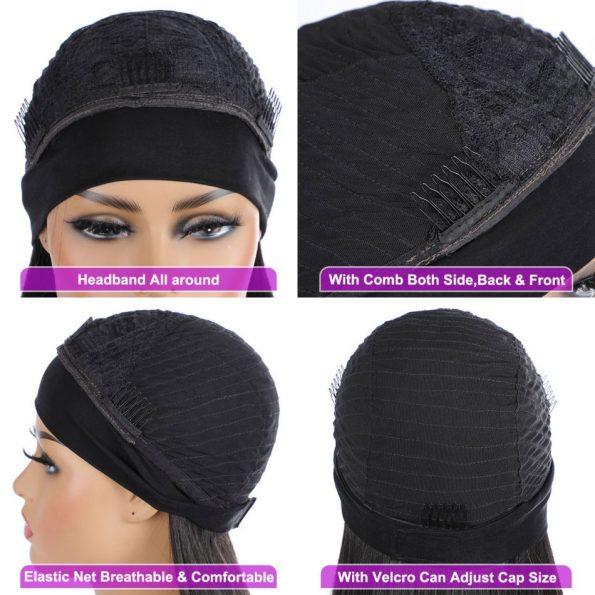 Body Wave Headband Wig 99J Color (2)