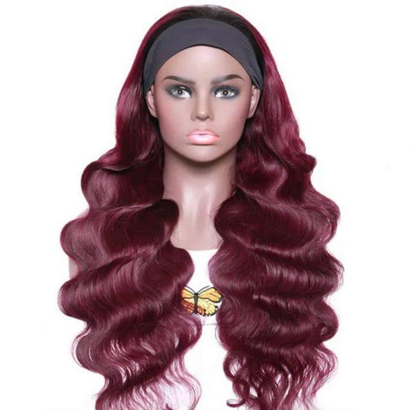 Body Wave Headband Wig 99J Color (5)