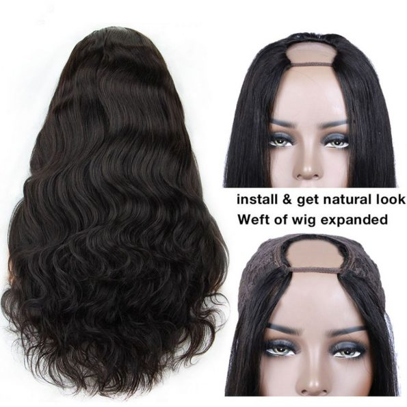 Body Wave U Part Wig (2)