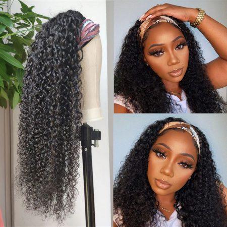 Curly Hair Headband Wig