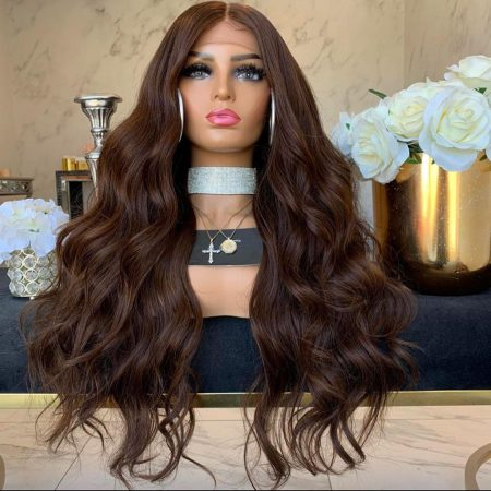 Dark Brown Body Wave Lace Front Wig