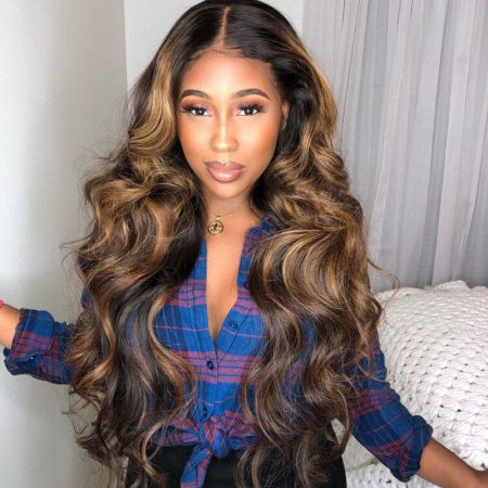 Highlight Body Wave Lace Front Wig