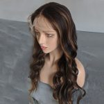 Highlight body wave lace front wig 23