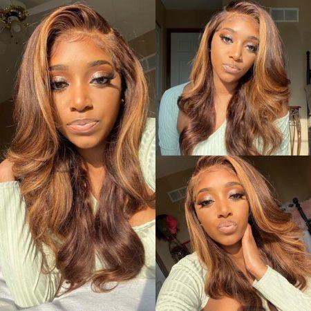 Honey Blonde Body Wave Wig