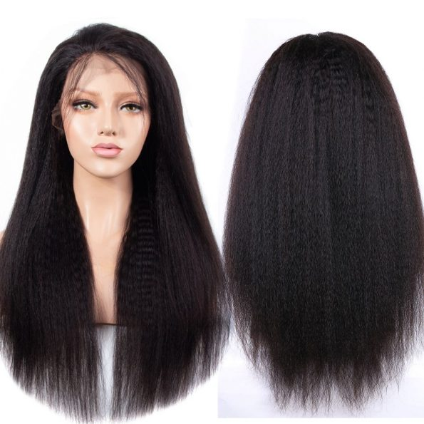 Kinky Straight 13×6 Lace Front Wigs (1)
