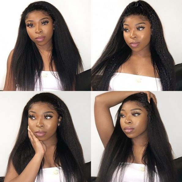 Kinky Straight 13×6 Lace Front Wigs (3)