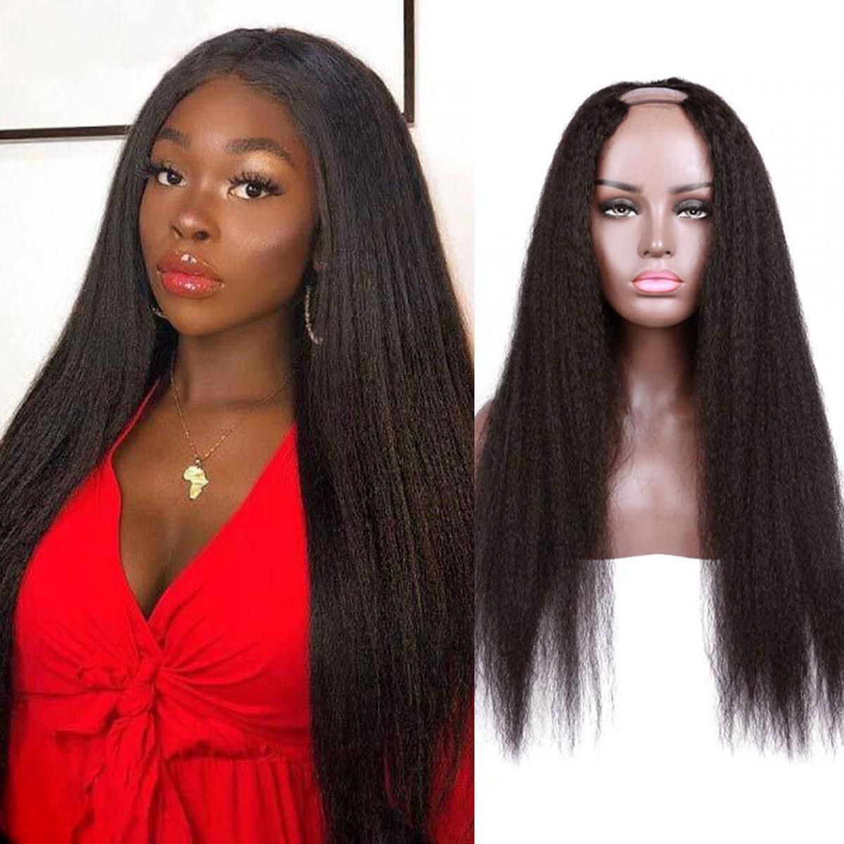 Kinky Straight Hair U Part Wig