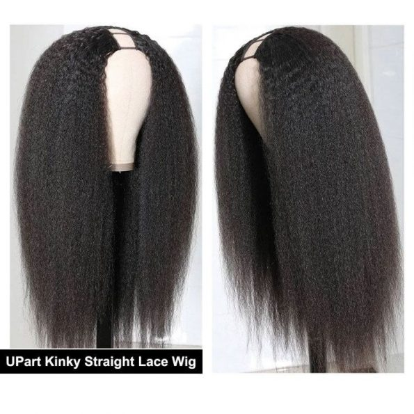 Kinky Straight Hair U Part Wig (2)