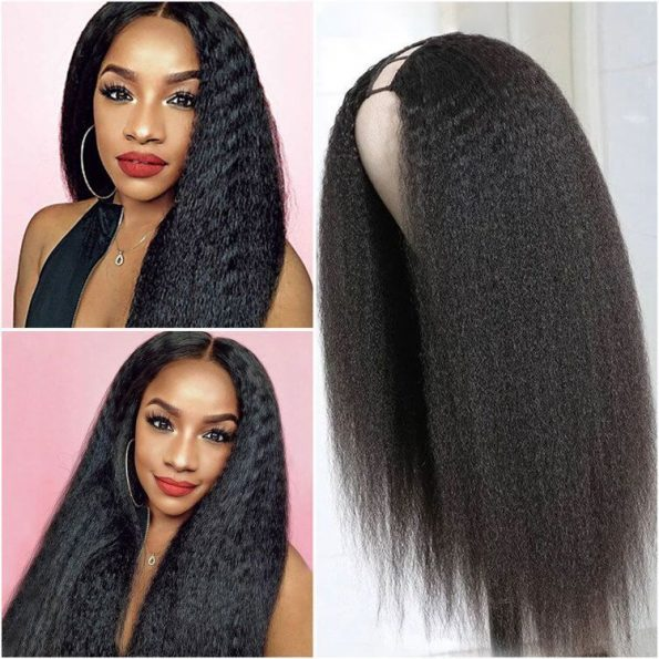 Kinky Straight Hair U Part Wig (6)