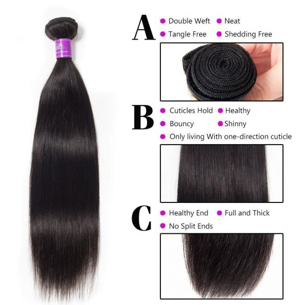 Malaysian Straight Hair 4 Bundles 4