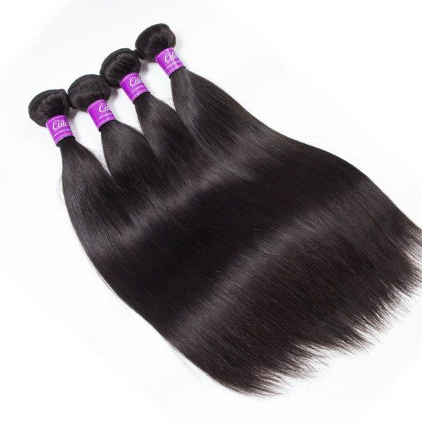 Malaysian Straight Hair 4 Bundles 5