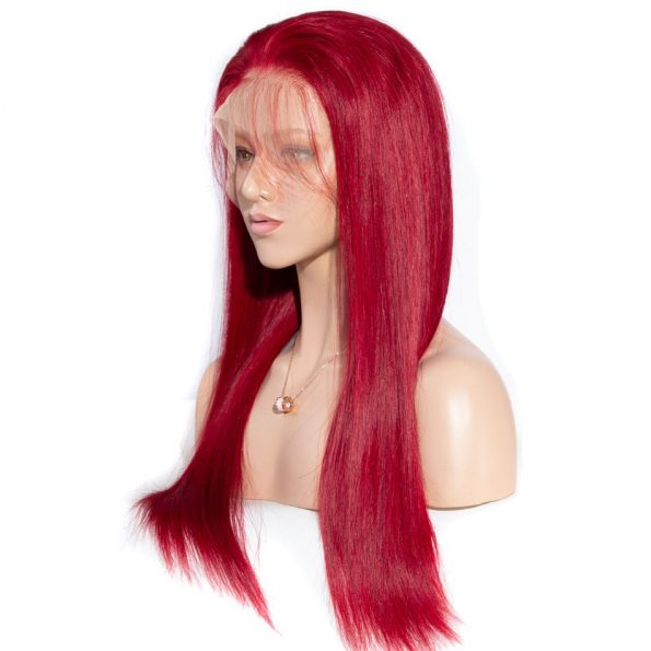 Redwine Color Straight 13×6 Lace Wigs (3)