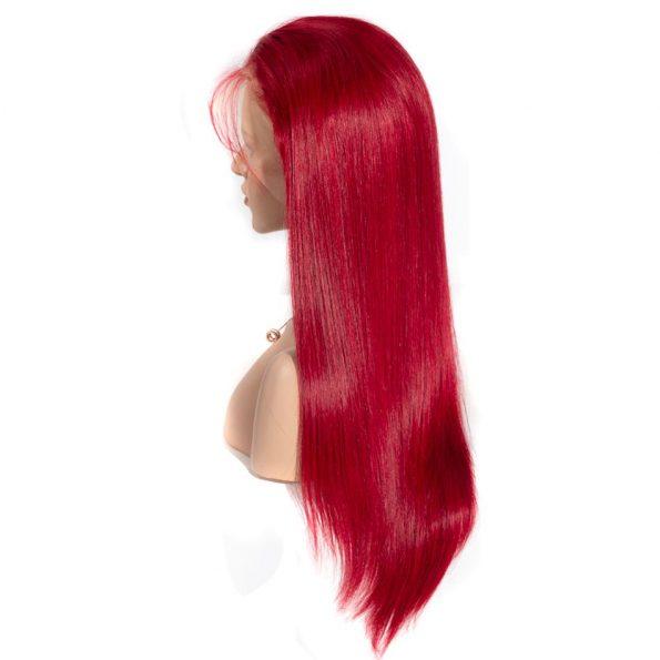 Redwine Color Straight 13×6 Lace Wigs (4)