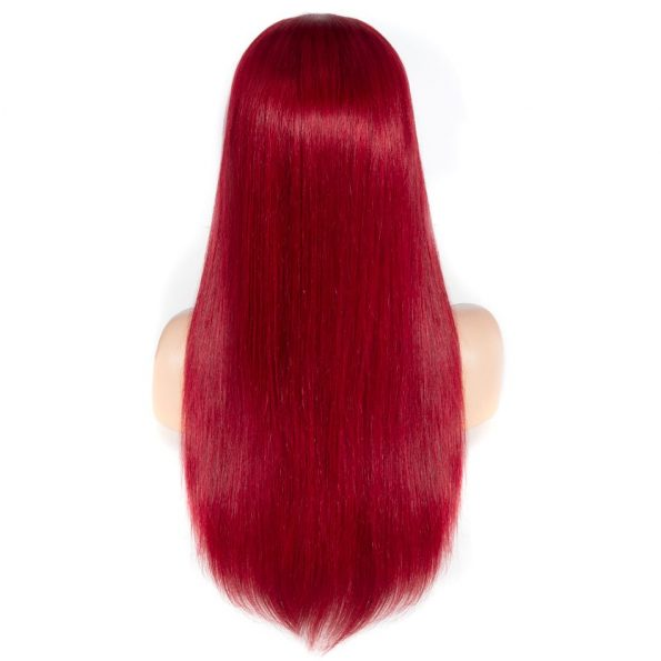 Redwine Color Straight 13×6 Lace Wigs (5)