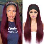 Straight Hair Headband Wig 99J Color (3)