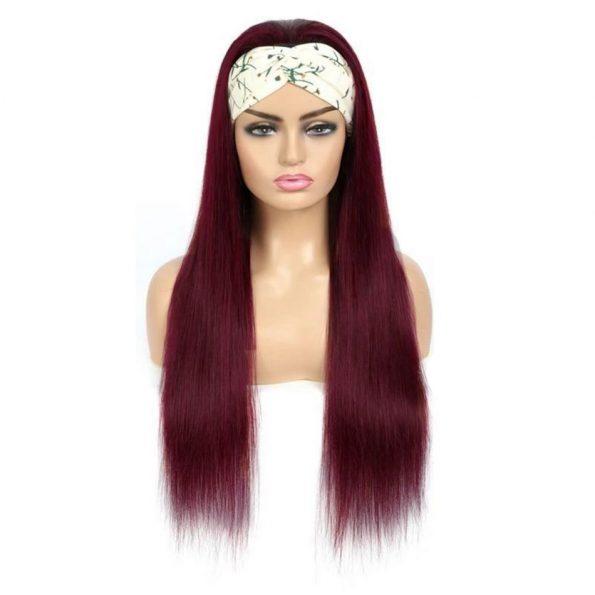 Straight Hair Headband Wig 99J Color (5)