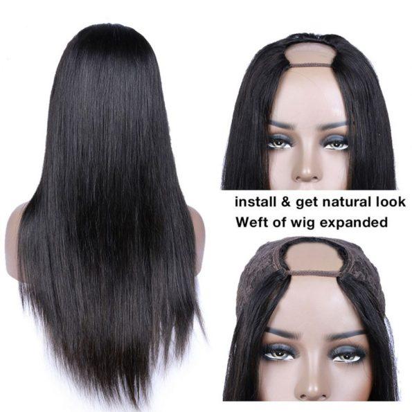 Straight Hair U Part Wig (4)