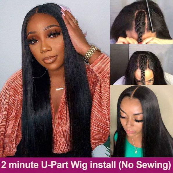 Straight Hair U Part Wig (6)