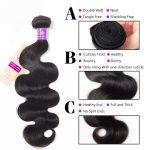 celie hair body wave bundles 3