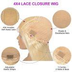 celie blonde hair body wave 4×4 lace wig