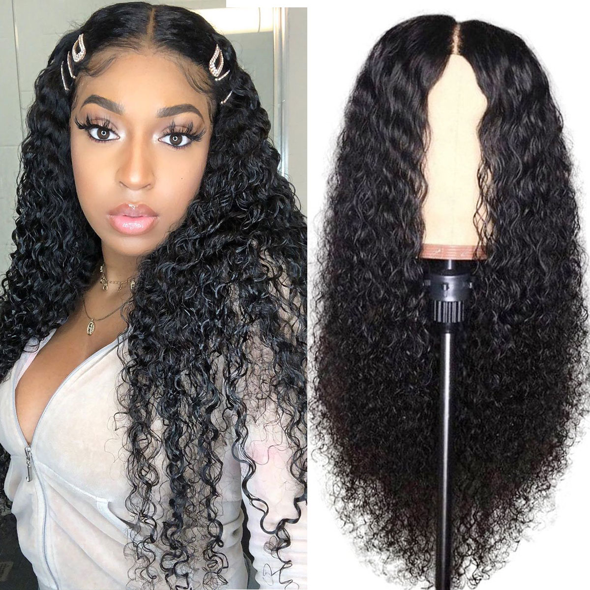 celie curly hair 6x6 lace wigs
