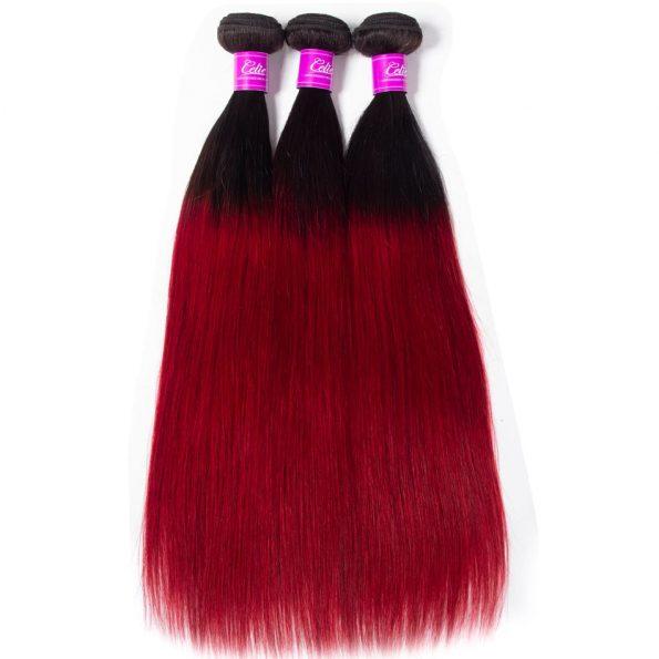 celie hair 1b red ombre straight hair 1