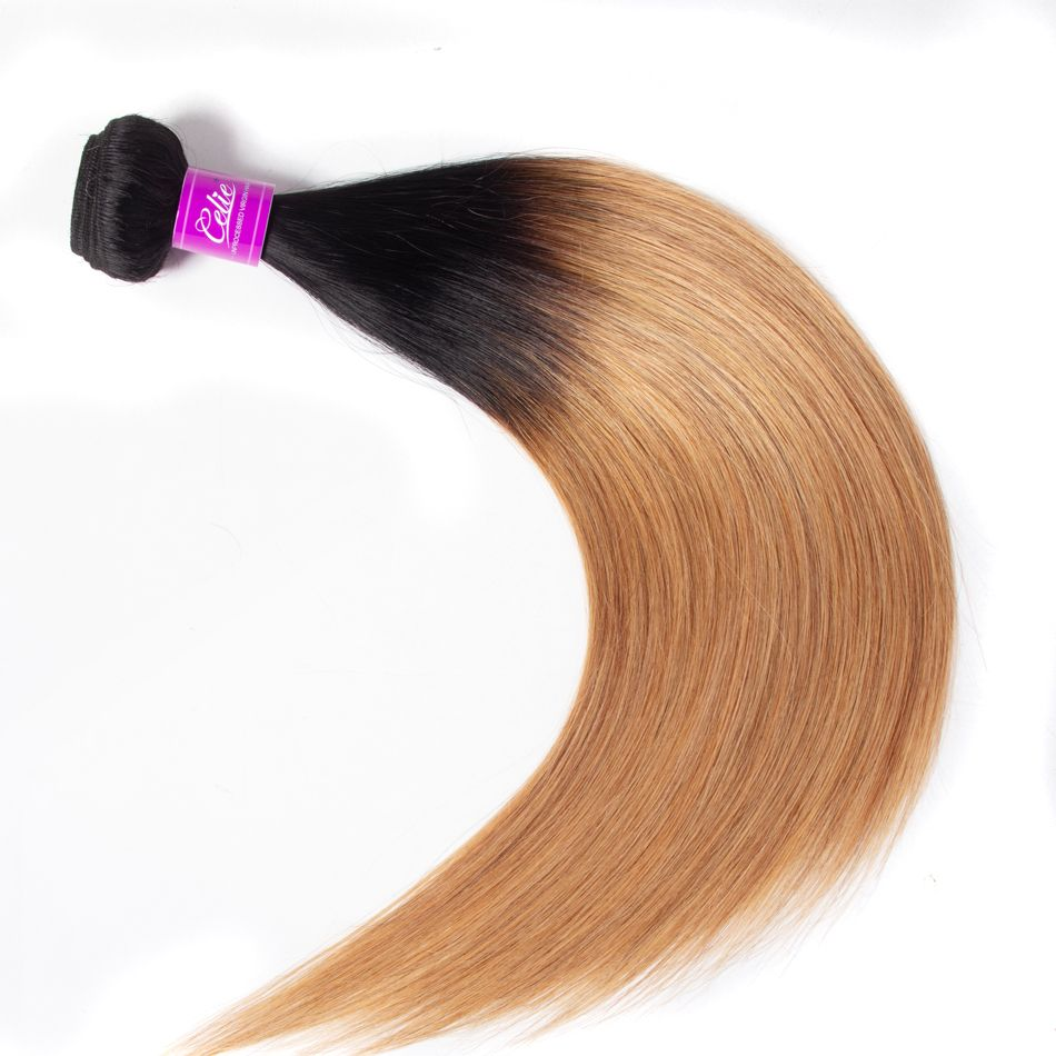celie hair Ombre straight hair bundles