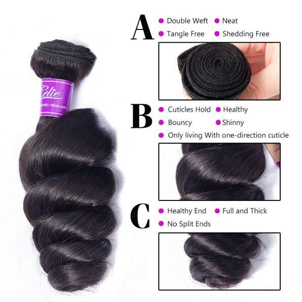 celie hair loose wave bundles