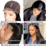 6×6 straight closure wig