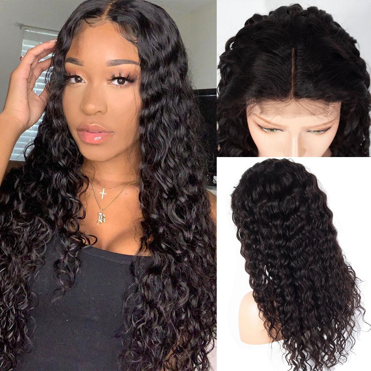 celie water wave 4x4 lace wigs