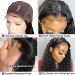 6×6 water wave lace front wig