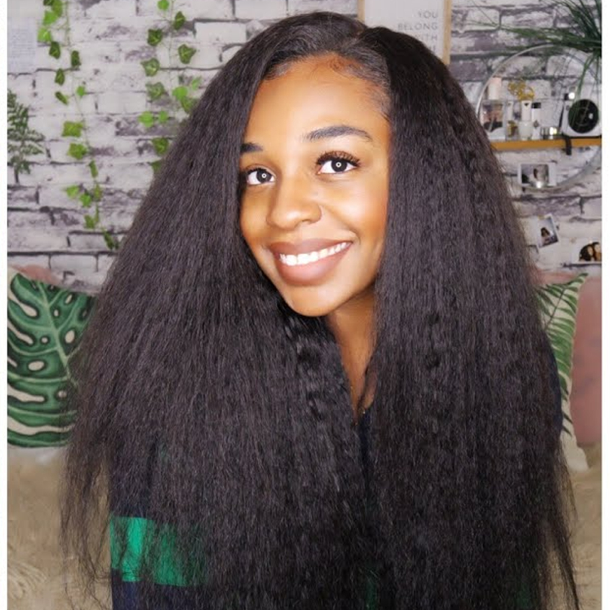 Kinky Straight 13x4 Lace Front Wig