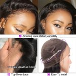 HD curly lace front wig